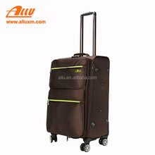 Foldable polyester brown travel trolley bags luggages