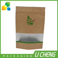 Manufacturer wholesale brown kraft food packaging paper bags with window