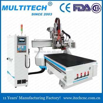high speed high precision ATC cnc router with gang drilling
