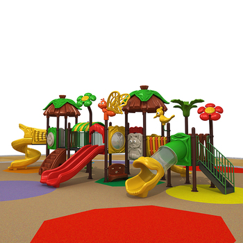 Timber forest combination slide,Castle style timber feature friendly plastic outdoor