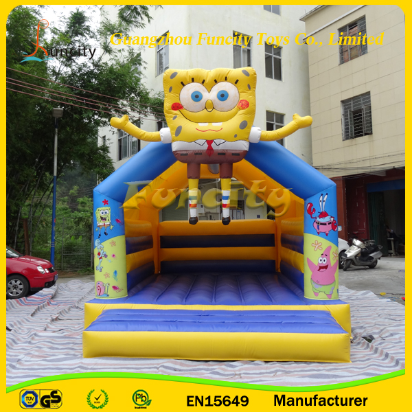 0.55 mm PVC Tarpaulin Inflatable Minions Castle / Inflatable Jumping Castle For Kids