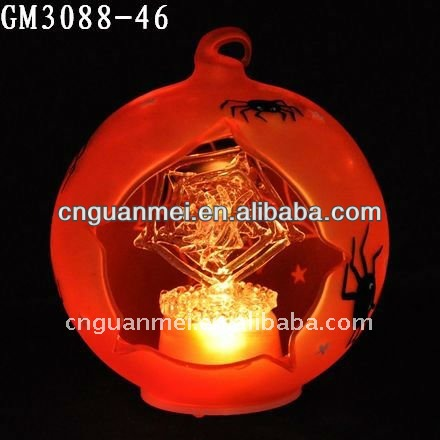 Wholesale orange led ball unique halloween decorations with spider