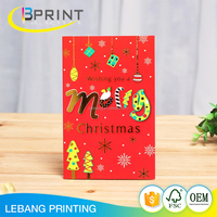 High quality manufacturing american greeting cards wholesale happy birthday christmas greeting card