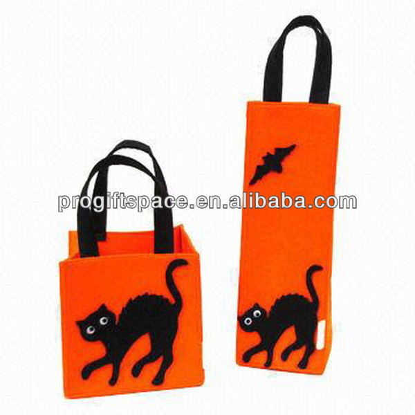 Hot sell Eco friendly felt wine and storage bag with cat for sale made in China