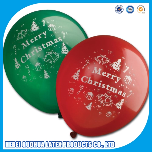 Santa Claus latex round shape pary balloon with windmill s for Christmas decoration