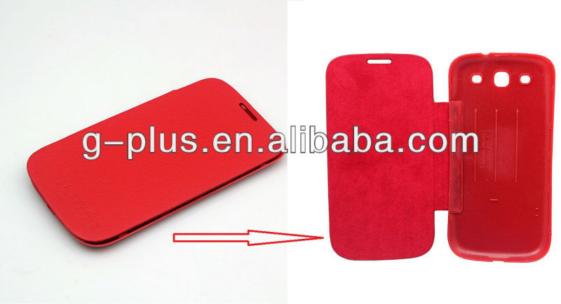 Red Leather Flip Cover Carrying Case Pouch for Samsung Galaxy S3 SIII GT-i9300 i9300
