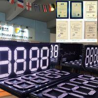 White LED digits Gas Price Sign Petrol Price Display