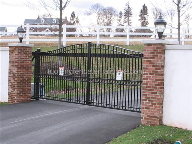 Estate gate wrought iron metal garden fence and