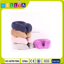 Fashion memory foam airplane car rest travel neck pillow