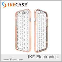 Clear TPU+PC Honeycomb Style Phone Case for iphone 6 case