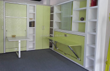 Single murphy wall bed, murphy bed, murphy bed with desk
