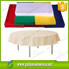 wholesale custom wedding non slip tablecloth/nonwoven polypropylene table cloth/tnt non-woven table cover 1mx1m