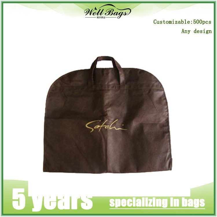 Custom Printed Wedding Dress Garment Bag/garment bag for suits