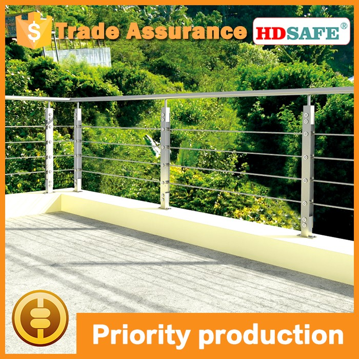 stainless steel staircase design balcony railing
