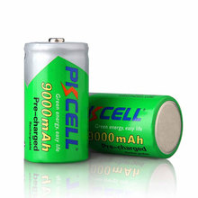 Rechargeable D Size NI-MH 1.2V 9000mAh Flashlight Batteries