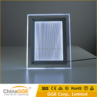 Super clear acrylic light box led backlit frame panel display for picture frame