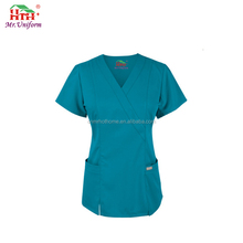 Release Blue Brushed Hospital Nurse Uniform Medical Scrub