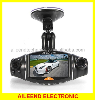 2.7 inch IR Night Vision G-sensor GPS Dual Camera Car DVR Dash Camera