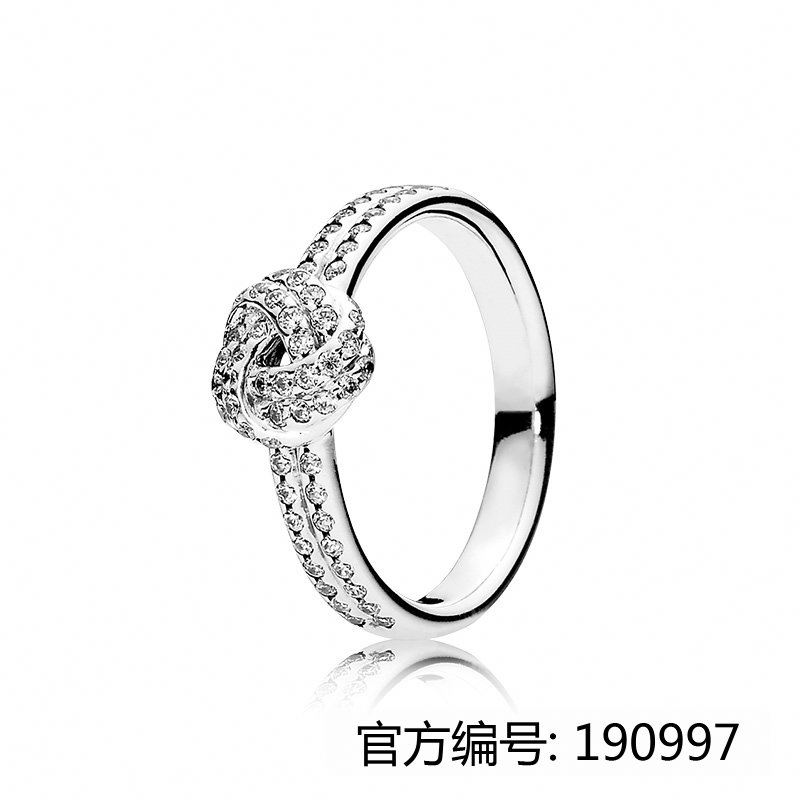 XINHUI 2017 hot truelove knot ring fit pandoras china factory wholesale 1:1 925 sterling silver ring