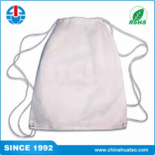 Fugang High Quality Small White Nylon Beach Drawstring Backpack Bags For Kids