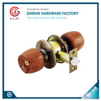 High quality best door lock brand Nature Wooden Round knob locks