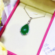 Natural Stone Pendant,2018 New Fashion Design 925 Sterling Silver Necklace for Women