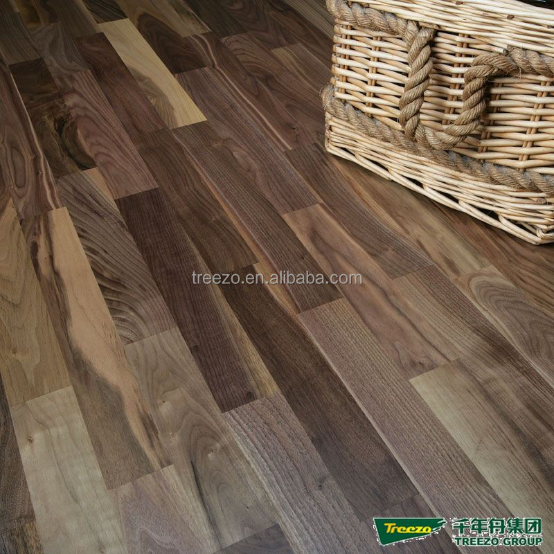 American black walnut engineered wood flooring plank Stained Natural floor factory supply