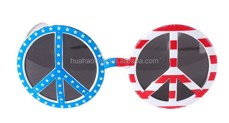 Unique Design Funny Cute Peace Sunglasses For Carnival Favor