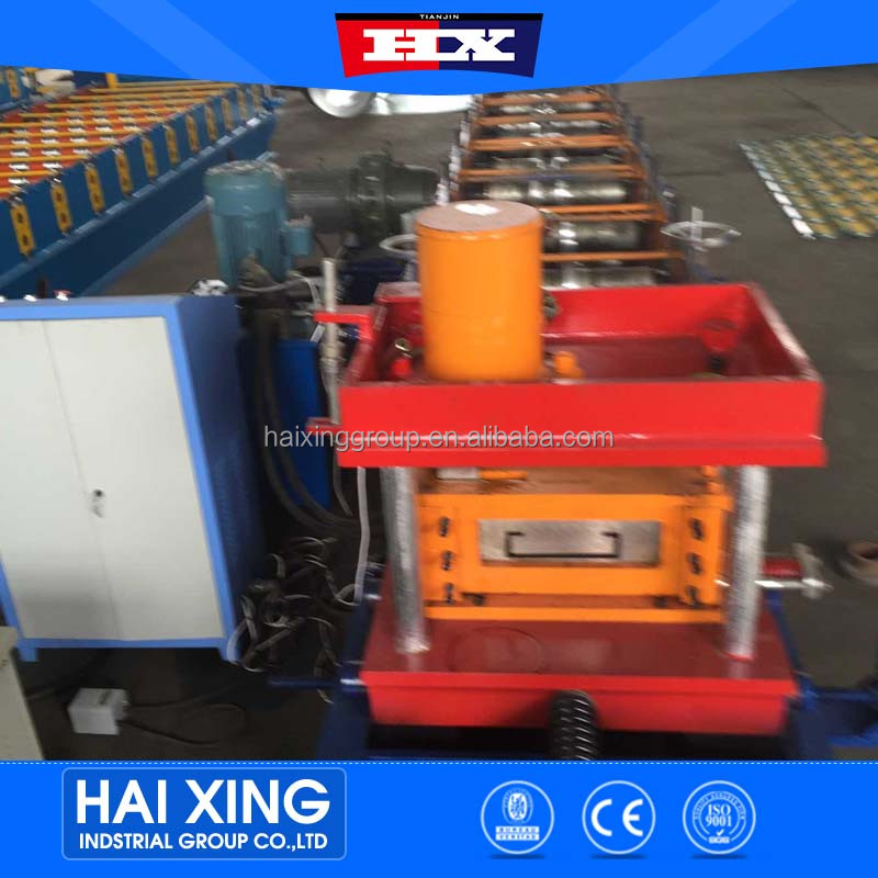 tianjin haixing china profile c z purlin roll forming machine