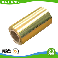 Gold chocolate aluminum foil wrapping papr roll with printing