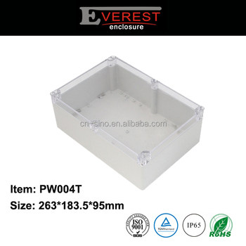 High Impact ABS Plastic Waterproof Enclosure With Transparent Cap