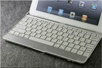 slim aluminum wireless case for ipad with bulit-in bluetooth keyboard