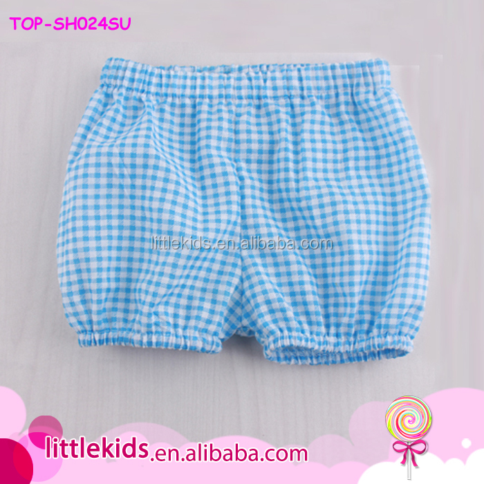 Hot Sale Baby Girls Summer Elastic Waist Short Baby Shorts Seersucker Kids Bubble Shorts
