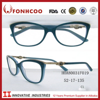 FONHCOO New Women Elegant DesignTemple Eyeglasses Optical Frames With Stone And Diamond