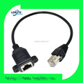 30cm RJ45 Male to Female Screw panel mount Ethernet LAN Network extension Cable