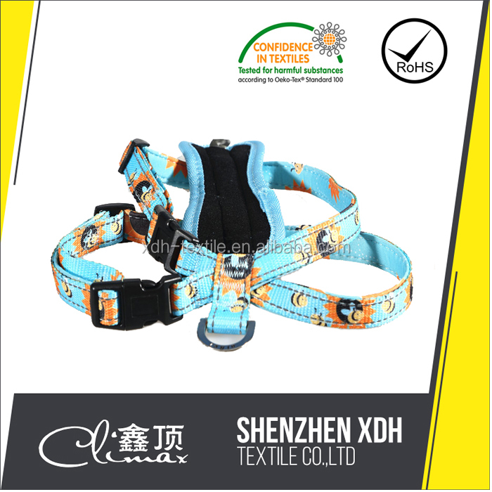 Wholesale OEM nylon and waterproof soft material chain dog harness