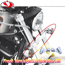 Whole sale chrome and black motorcycle turn signals relocation kit for harley 10-15 xl 1200x