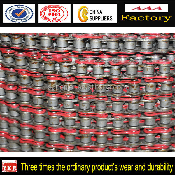 colored O-Ring Motorcycle roller Chain ,motorcycle drive color chain, 1045 material chain sprocket for race motorcycle