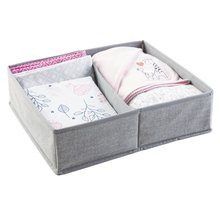 Fabric Easy Storage Drawer For Closet,2 Compartments Home Storage Organization