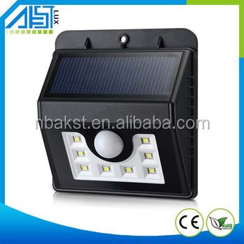 www xx com 8LED motion detector 3.7v with solar panel