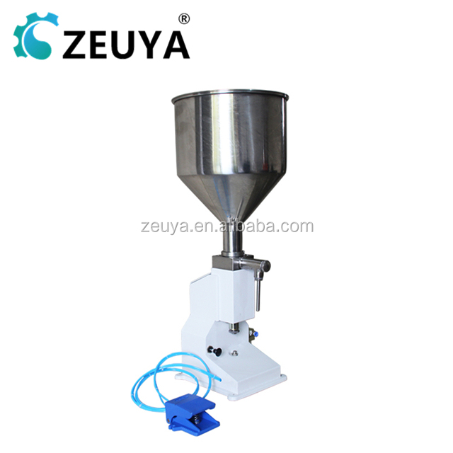 <strong>A02</strong> 5-50ML Full Pneumatic Pedal Manual Small Liquid and Cream Filling Machine