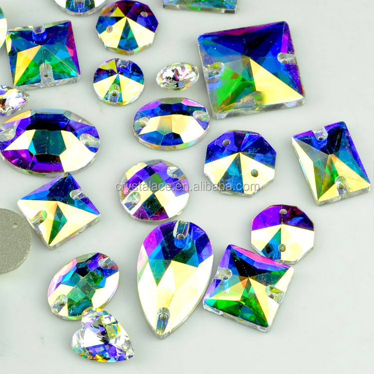 blue flare crystal AB sew on glass stones, sew on crystal stones.jpg