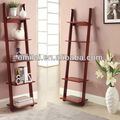 MDF white ladder bookcase