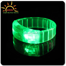 Sound Control LED Flashing Bracelet Wristband Bangle for Night Pub Bar Disco Party