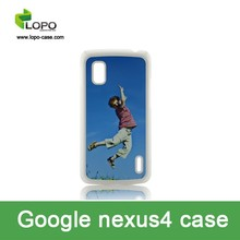 customized 2D blank sublimation PC cases for Google Nexus4