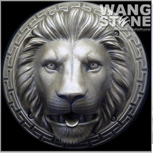 Metal Wall Art Bronze Lion Head Sculpture