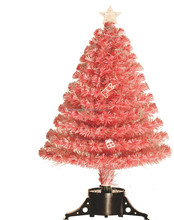 High Quality Small Pink Fiber optic Mini Ornament Artifical Christmas Tree