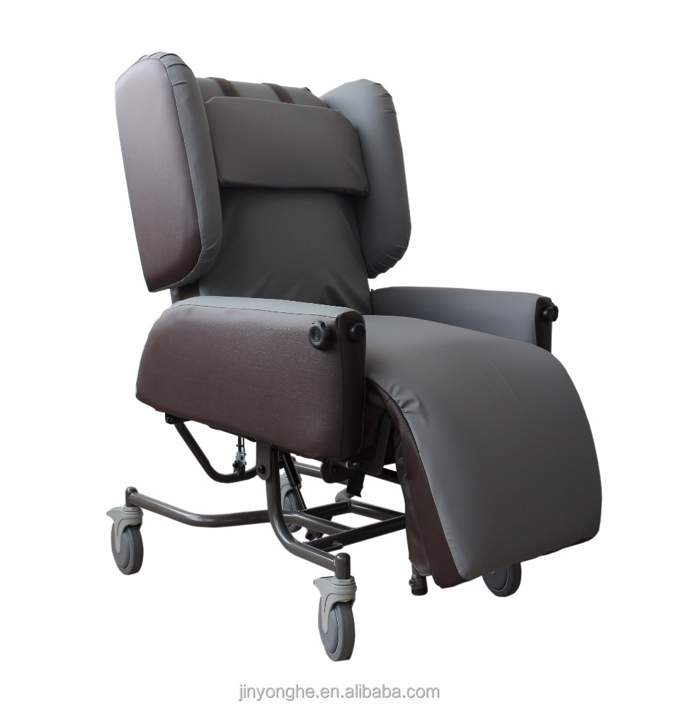 Electric medical treatment care reclining wheelchair