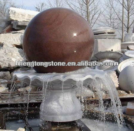 Outdoor Stone Rolling Ball Water Fountain