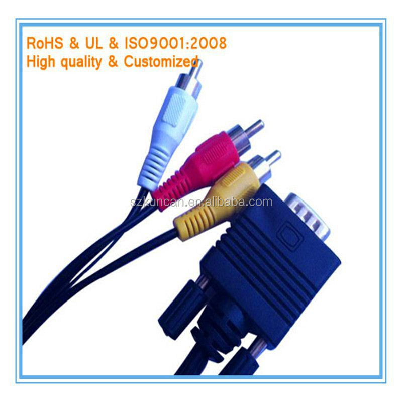 15Pin male to male VGA cable rca male to vga female cables